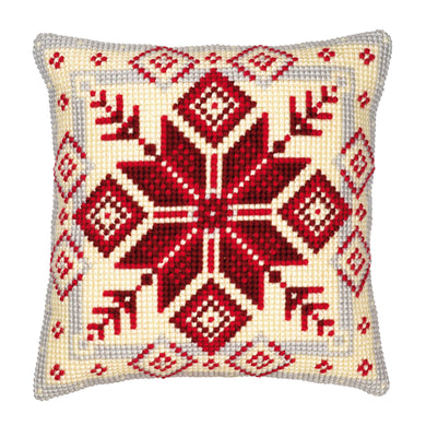 Geometric Snowflake Cross Stitch Cushion Front Kit