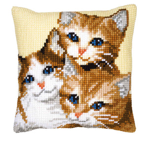 Kittens Cross Stitch Cushion Front Kit