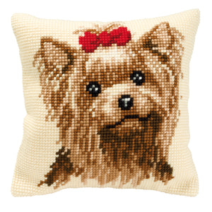 Yorkshire Terrier Cross Stitch Cushion Front Kit