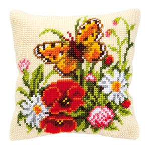 Butterfly Cross Stitch Cushion Front Kit