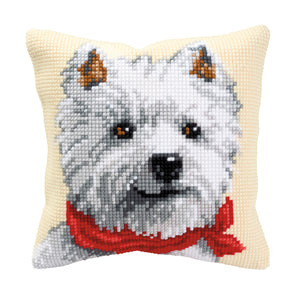 West Highland Terrier Cross Stitch Cushion Front Kit