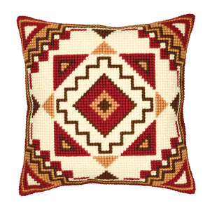 Geometric Design Cross Stitch Cushion Front Kit