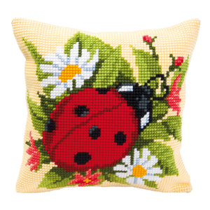 Ladybird Cross Stitch Cushion Front Kit
