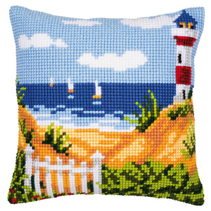 Lighthouse Cross Stitch Cushion Front Kit