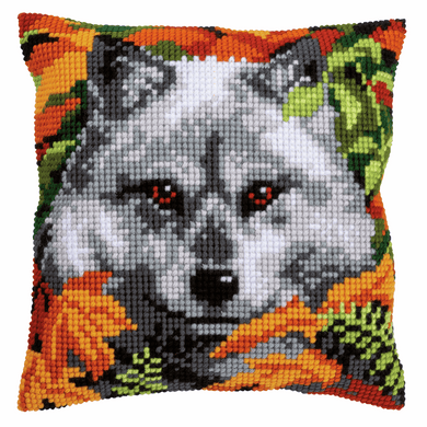 Wolf - Cross Stitch Cushion Front Kit
