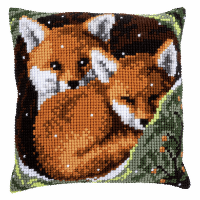 Foxes - Cross Stitch Cushion Front Kit