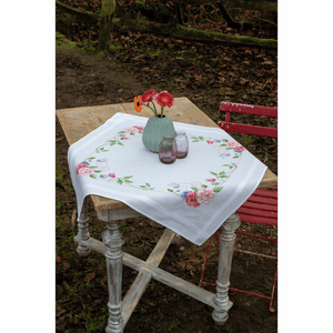 Flowers and Butterflies Tablecloth Embroidery Kit