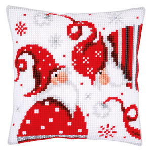Christmas Gnomes I Cross Stitch Cushion Front Kit