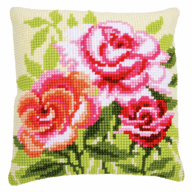 Roses - Cross Stitch Cushion Front Kit