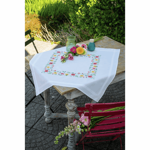 Fresh Flowers Tablecloth Embroidery Kit