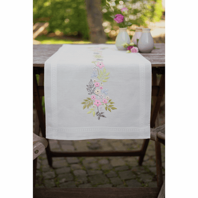 Flowers and Leaves Table Runner Embroidery Kit