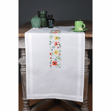 Load image into Gallery viewer, Fresh Flowers Table Runner Embroidery Kit