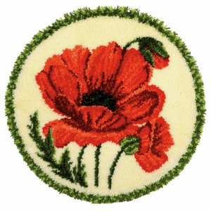 Poppy - Latch Hook Rug Kit