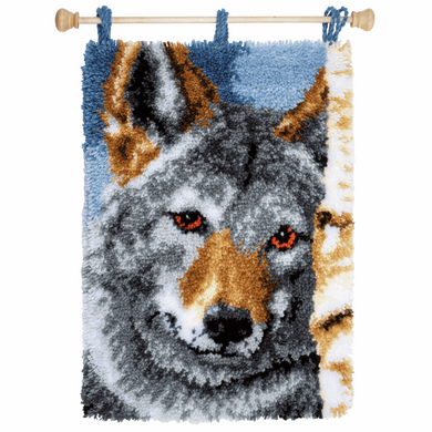 Wolf - Latch Hook Rug Kit