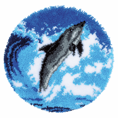 Dolphin - Latch Hook Rug Kit
