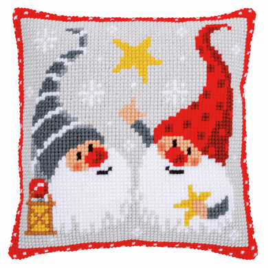 Christmas Gnomes II Cross Stitch Cushion Front Kit