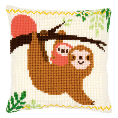 Sloth II Cross Stitch Cushion Front Kit