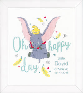 Dumbo Oh Happy Day Cross Stitch Kit