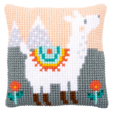 Lovely Llama Cross Stitch Cushion Front Kit