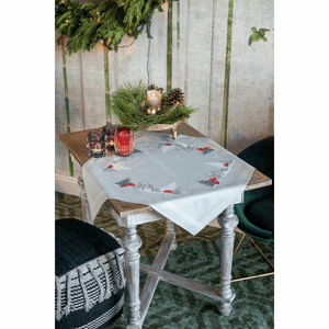 Winter Christmas Landscape Tablecloth Embroidery Kit
