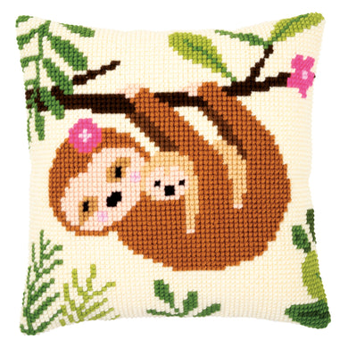 Sloth Cross Stitch Cushion Front Kit