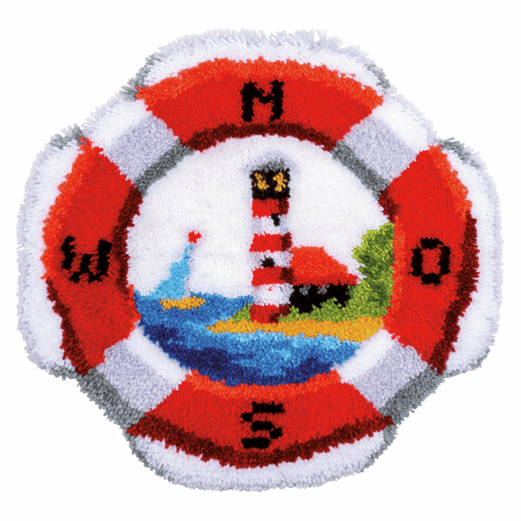 Lifebuoy Latch Hook Rug Kit