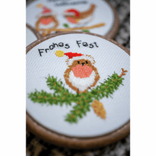 Load image into Gallery viewer, Christmas Birds-  Miniatures Cross Stitch Kit