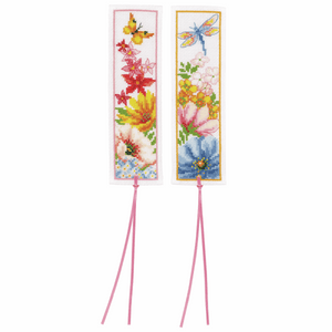 Colourful Flowers Bookmark Cross Stitch Kit