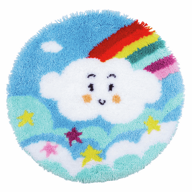 Little Rainbow Cloud Latch Hook Rug Kit
