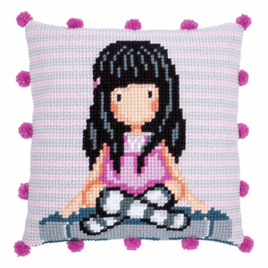 Gorjuss - The Words - Cross Stitch Cushion Front Kit