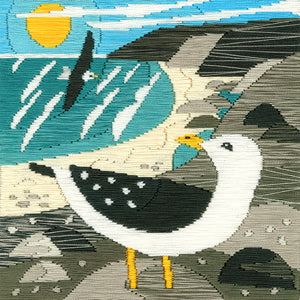 Silken Scenes - Seagulls Long Stitch Kit