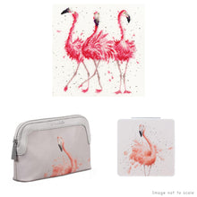 Load image into Gallery viewer, Pink Ladies Gift Set - Cross Stitch Kit, Small Cosmetic Bag & Compact Mirror