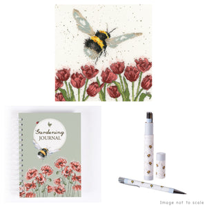 Flight of the Bumblebee Gift Set - Cross Stitch Kit, Garden Journal & Pen