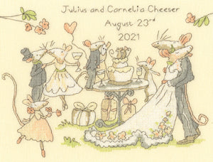 Mice Day for a White Wedding Cross Stitch Kit
