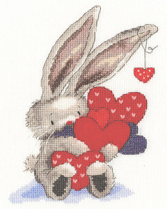 Bebunni ~ Whole Lot of Love ~ Cross Stitch Kit