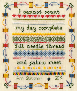 Stitching Sampler - Counted Embroidery Kit