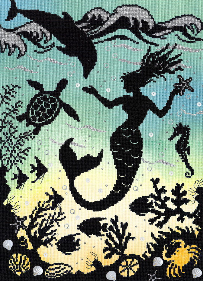 Mermaid Cove Cross Stitch Kit
