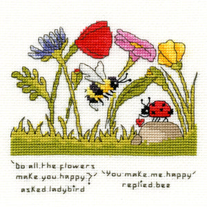 You Make Me Happy - Ladybird and Bee - Cross Stitch Kit
