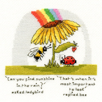 Finding Sunshine - Ladybird and Bee - Cross Stitch Kit
