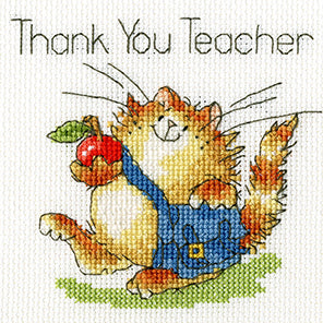 An Apple for Teacher Cross Stitch Kit