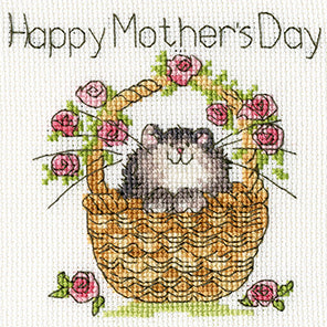 Basket of Roses (Mothers Day) Cross Stitch Kit