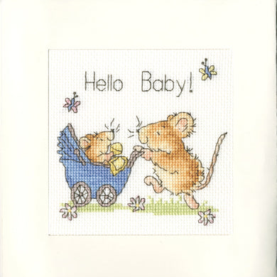 Hello Baby! Cross Stitch Kit - Greetings Card
