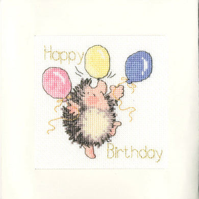 Birthday Balloons Cross Stitch Kit - Greetings Card