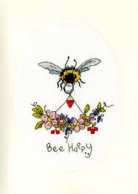 Bee Happy - Greeting Card Cross Stitch Kit
