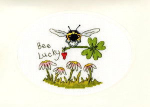 Bee Lucky - Greeting Card Cross Stitch Kit