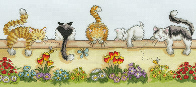 Lazy Cats Cross Stitch Kit
