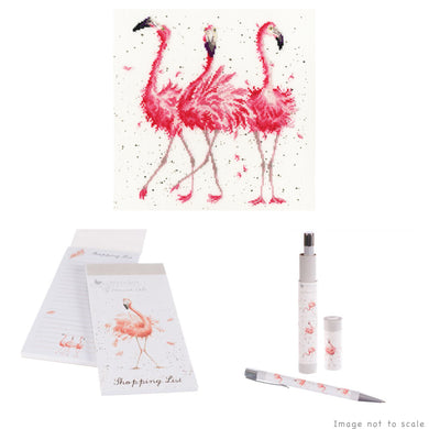Pink Ladies Gift Set - Cross Stitch Kit, Shopping List Pad & Pen