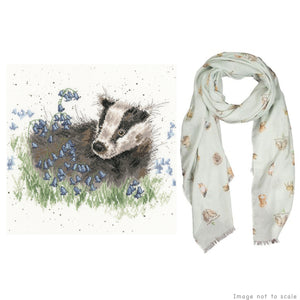 Bluebell Wood Gift Set - Cross Stitch Kit & Woodland Scarf