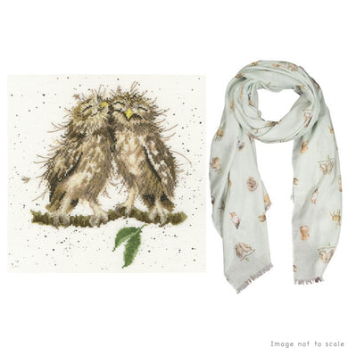 Birds of a Feather Gift Set - Cross Stitch Kit & Scarf