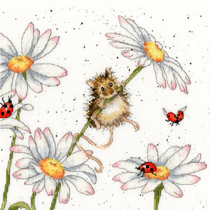 Daisy Mouse Cross Stitch Kit